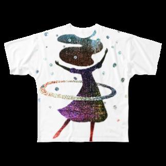 majiodesignのフラフーム Full graphic T-shirts