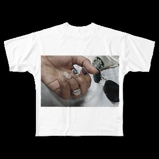 mocasenseiのsummer season Full graphic T-shirts