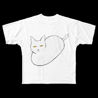 myrockの丸猫 Full graphic T-shirts