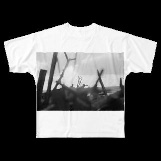 kio photo worksのEvening sea light Full graphic T-shirts