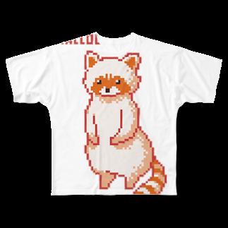 m :)のアライグマ Full graphic T-shirts