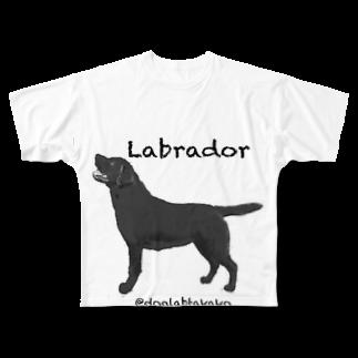 DOGLABのラブラドール @doglabtakako  Full graphic T-shirts