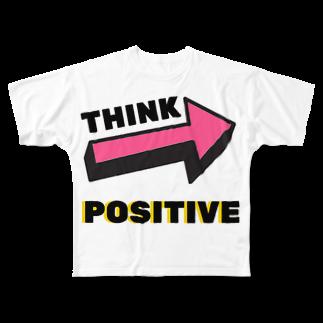 てぃーのショップのTHINK POSITIVE! Full graphic T-shirts