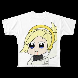 AkinoAliceのマーシー〜ポプテ風味〜 Full graphic T-shirts