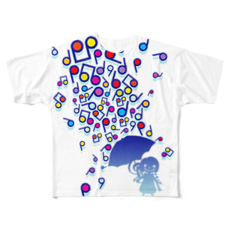 AURA_HYSTERICAのSingin' in the Rain Full graphic T-shirts