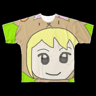 市イラストグッズショップの熊耳娘 Full graphic T-shirts