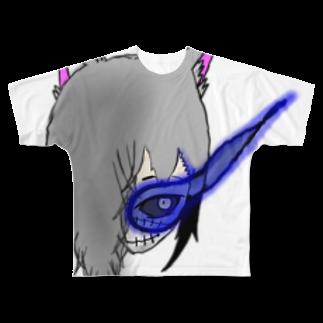 市イラストグッズショップの獣skull Full graphic T-shirts