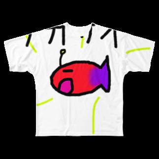 ivana425のおさかな社会主義 Full graphic T-shirts