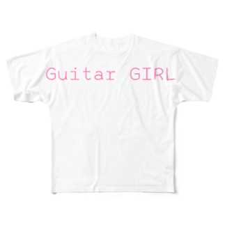 happymoonkobeのGuitar GIRL Full graphic T-shirts