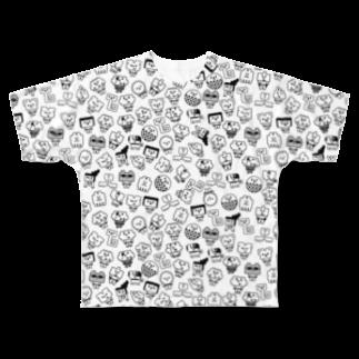 uchukunのchara!chara!chara! Full graphic T-shirts