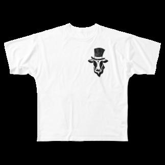 Mattyanの牛が良き(dark) Full graphic T-shirts