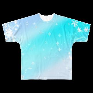 まめ@ゆるふわおもろ発見隊のグラデ1 Full graphic T-shirts