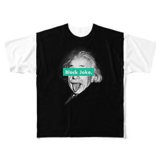 IKYAKIITADAKIのブラックジョーク Full graphic T-shirts