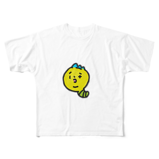 チコナオンのモヒカンイモムシくん Full graphic T-shirts