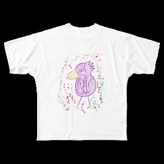 manamanawaruのパープルワルビロ Full graphic T-shirts