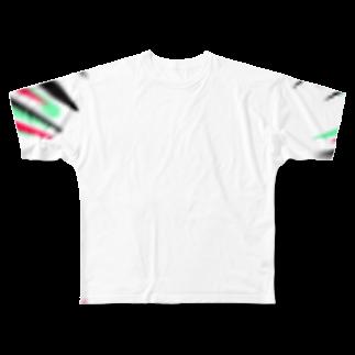 お昼寝timeの集中線 Full graphic T-shirts