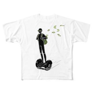 銀行強盗 Full graphic T-shirts