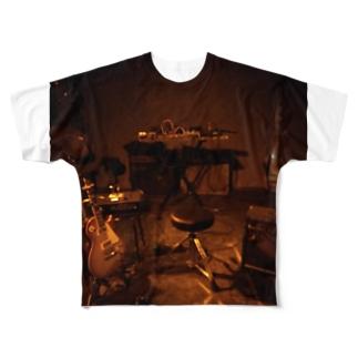 秋山徹次ライブセット Full graphic T-shirts