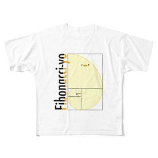 フィボナッチーヨ Full graphic T-shirts