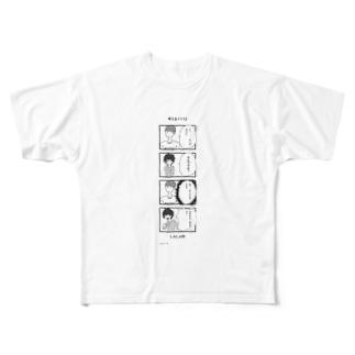考えるミニマンシャツ Full graphic T-shirts