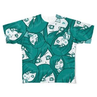 【両面フルグラ】Psyche♥VANIKO(GREEN) Full graphic T-shirts