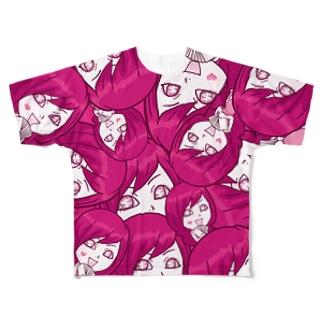 【両面フルグラ】Psyche♥VANIKO(PINK) Full graphic T-shirts