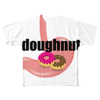 ドーナツっ腹 Full graphic T-shirts