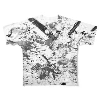 モノクロ3 Full graphic T-shirts