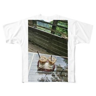 箱根にて Full graphic T-shirts