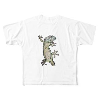 トッケイゲッコー Full graphic T-shirts