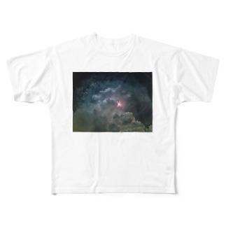 夏と雷雲 Full graphic T-shirts