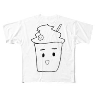 フラペチーノ Full graphic T-shirts