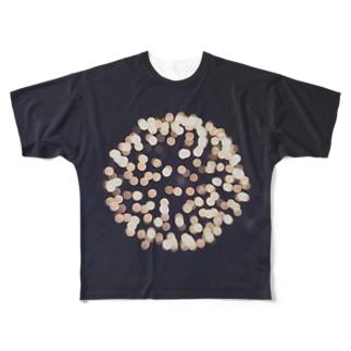 花ビー玉 Full graphic T-shirts