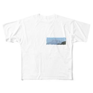 富士 Full graphic T-shirts