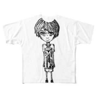 クソガキイラスト Full graphic T-shirts
