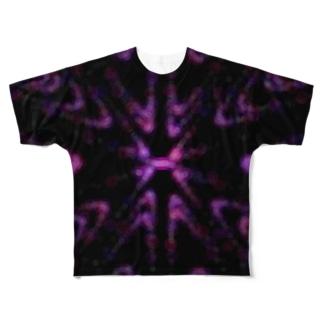 Circle pattern(Pink) フルグラフィックTシャツ