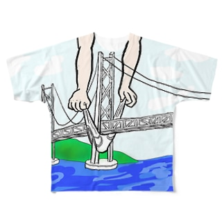 ○○○かいきょうおおはし Full graphic T-shirts