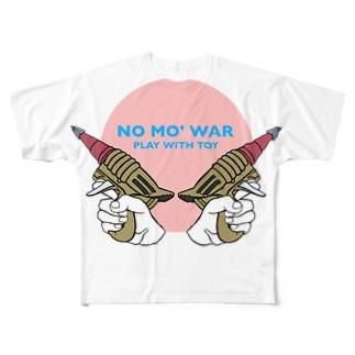 NO MO' WAR Full graphic T-shirts
