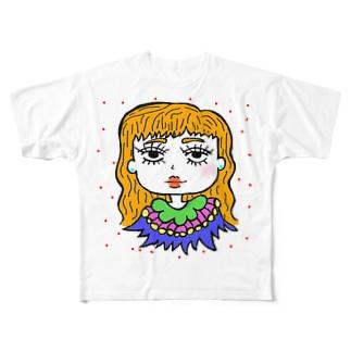 ツキちゃん Full graphic T-shirts