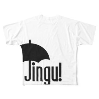 Jingu!  クロ Full graphic T-shirts