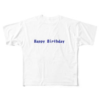 Happy Birthday グッズ Full graphic T-shirts