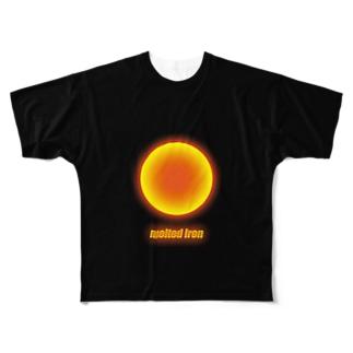 #9「溶けた鉄」~川口市~ Full graphic T-shirts