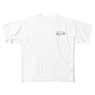 イラストねこ Full graphic T-shirts