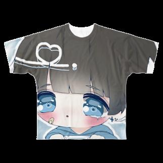 はうきくんの生きててごめんへらグッズ Full graphic T-shirts