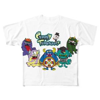 Creepy Treasures! Monster Family Full graphic T-shirts