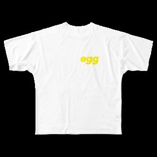 syuyaのたまご Full graphic T-shirts