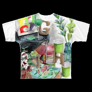 techonのHAGI隠れ Full graphic T-shirts