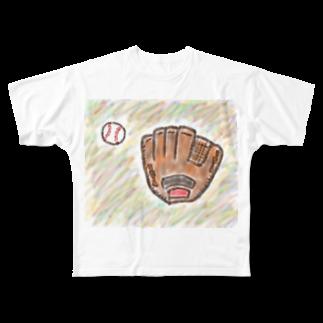 kyonophotoのグローブとボール Full graphic T-shirts