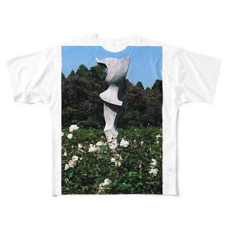 Dreamscapeのホワイトガーデン Full graphic T-shirts