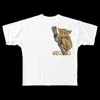 すとろべりーガムFactoryのターシャ (メガネザル) Full graphic T-shirts